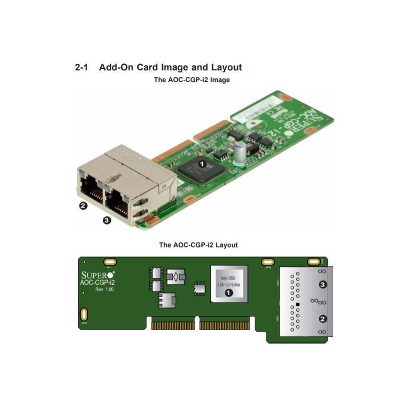 Supermicro Carte Dual 1GbE Micro LP ( AOC-CGP-i2 )