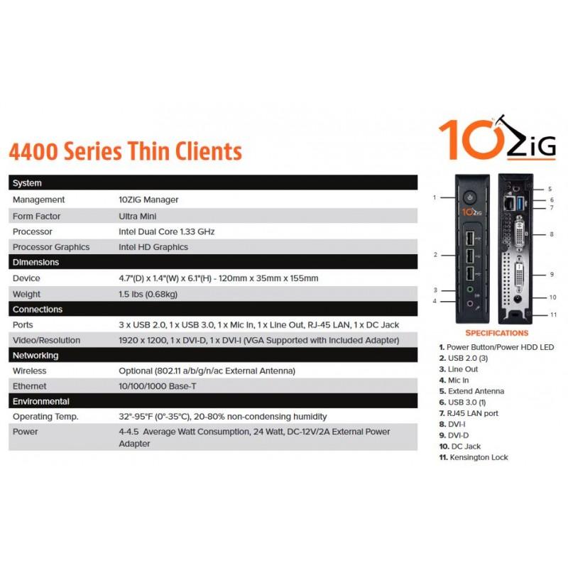 10ZIG 2GB (4418-2630) WE8S Thin Client - Actualis