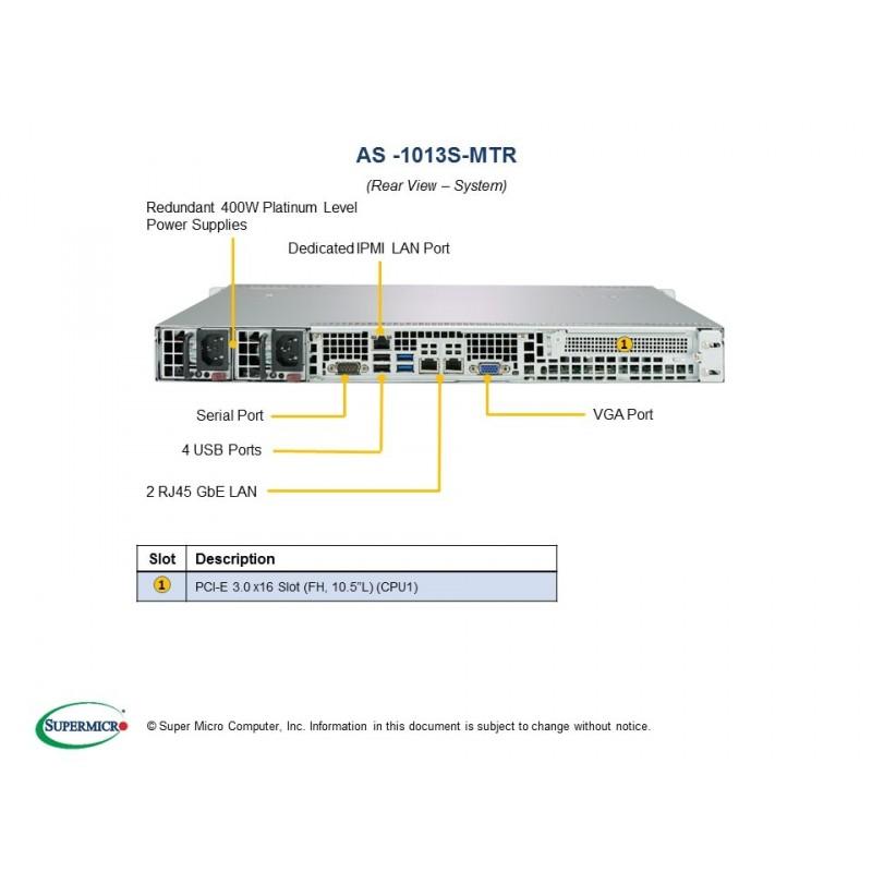 Supermicro A+Server 1U 1013S-MTR - Actualis